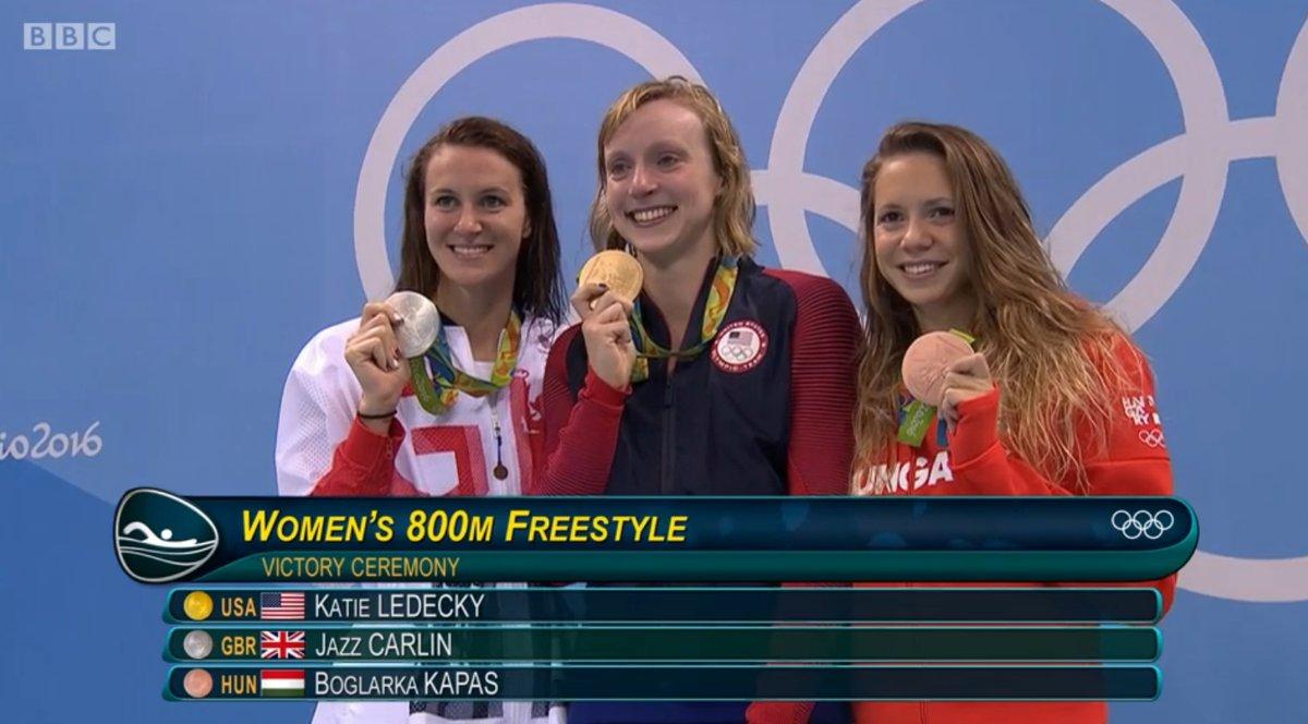 Богларка Капаш (Boglarka Kapas) с олимпийской медалью