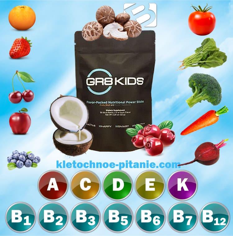 Состав Gr8Kids (детское питание BEpic)