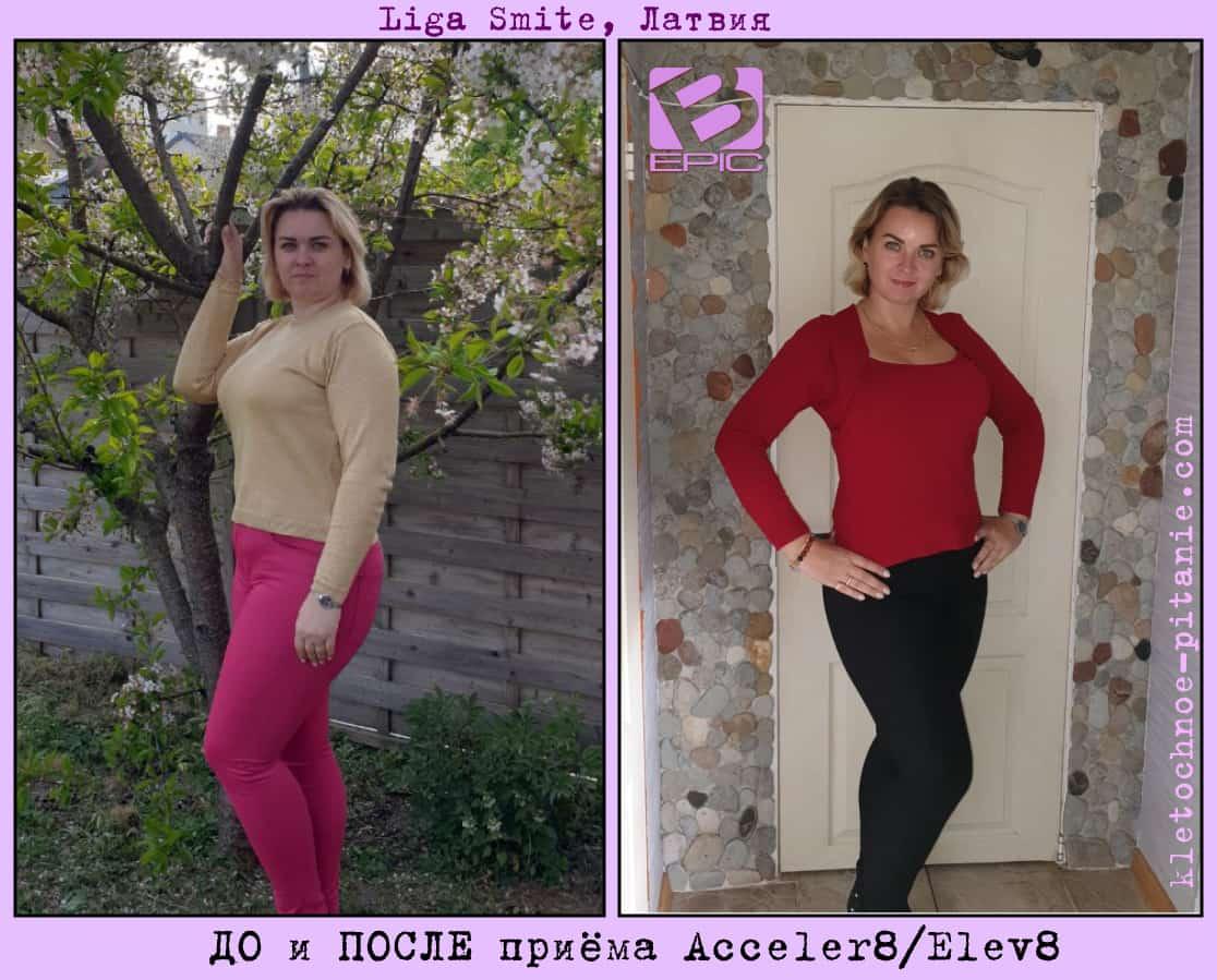 Результаты похудения с Acceler8