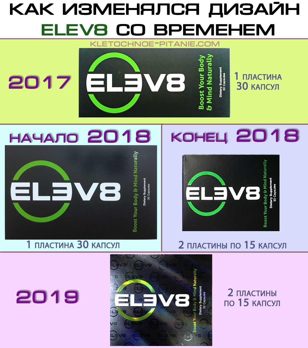 Разные упаковки Elev8 - как выглядят