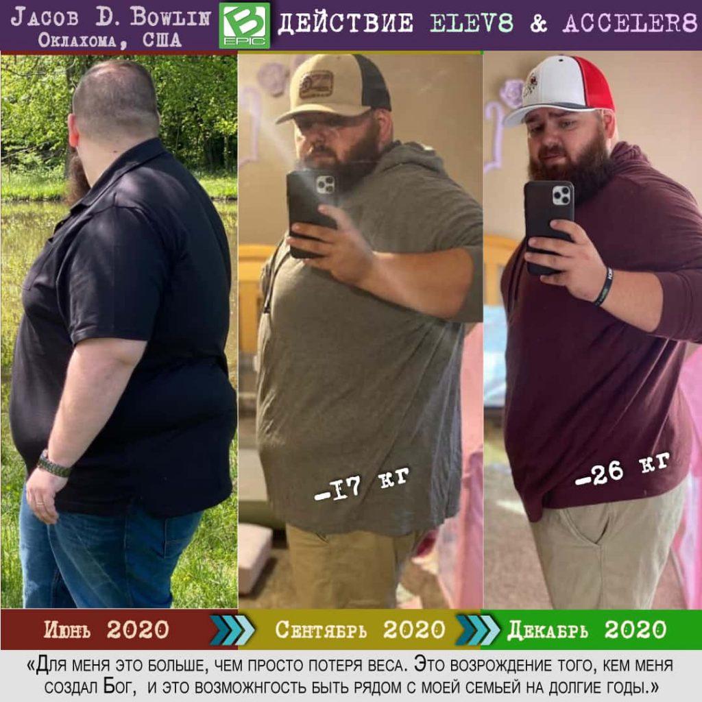 Результаты похудения с Elev8 и Acceler8 от BEpic