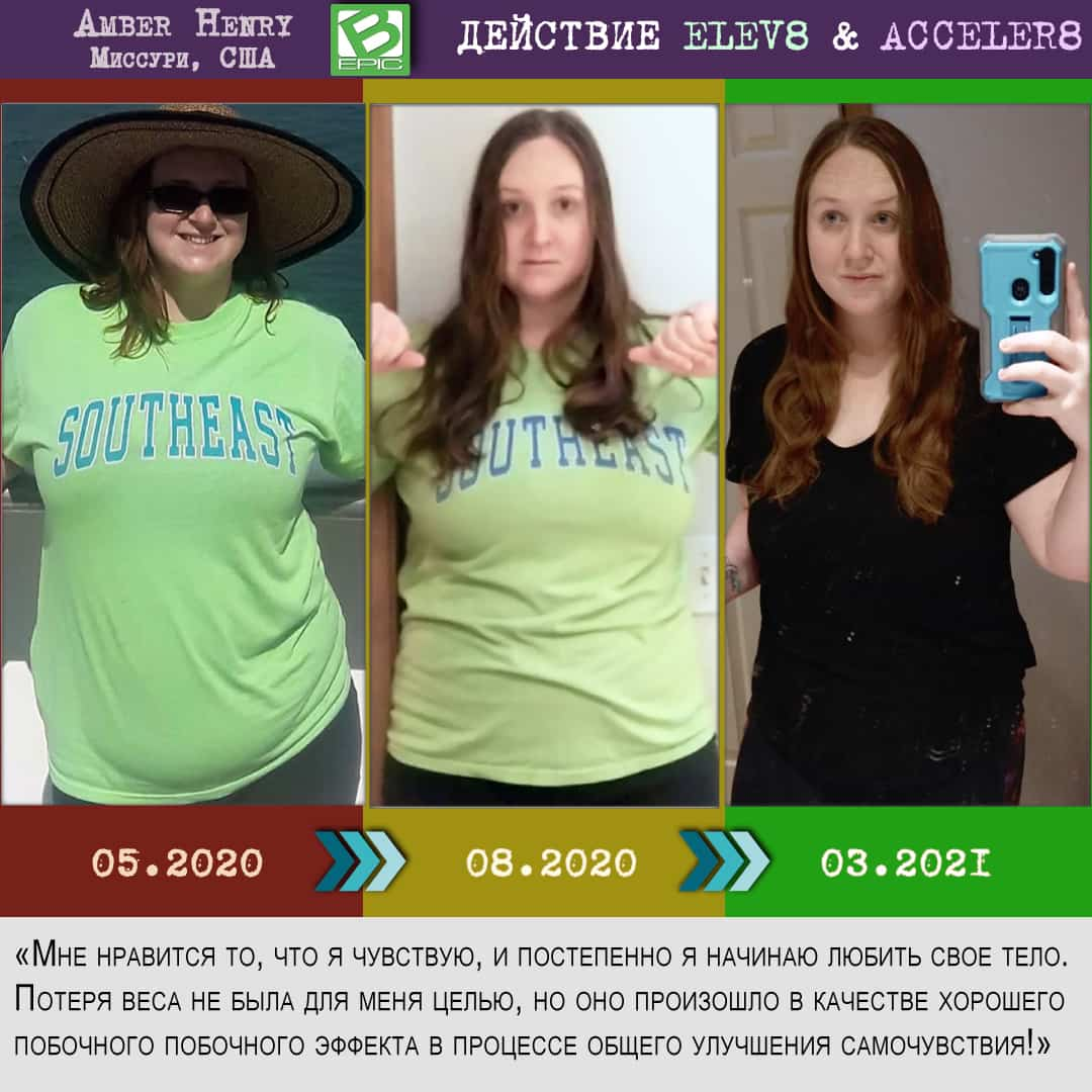 Похудение с елев 8 - фото до и после
